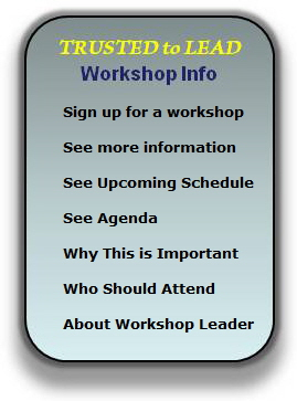 Trusted to Lead Workshop Info Robert Porter Lynch